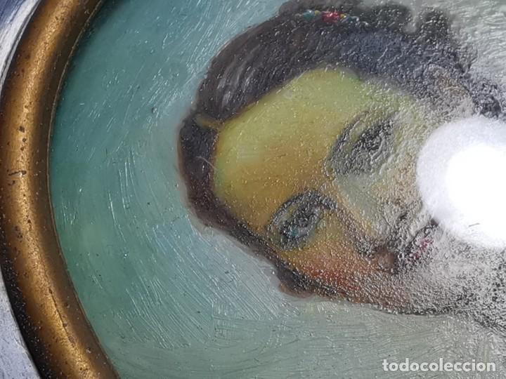 Arte: RETRATO DAMA OLEO MINIATURA INICIOS SIGLO XX...FIRMADO SALVADOR CASANAS-CASAÑAS-gran calidad - Foto 29 - 218724545