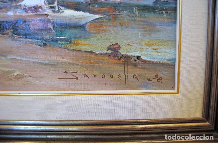 Arte: JOSEP SARQUELLA I ESCOBET ÓLEO SOBRE LIENZO CIUTADELLA MENORCA - Foto 7 - 218727031