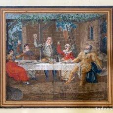 Arte: PINTURA FF. S. XVIII O PP. S. XIX SOBRE GRAN CARTULINA ADHERIDA A LIENZO.. Lote 218736653