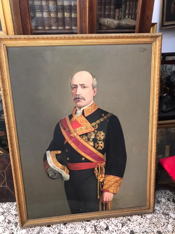 ÓLEO DEL SIGLO XIX DEL GENERAL FRANCISCO SERRANO - 135X110 CM (Arte - Pintura - Pintura al Óleo Moderna siglo XIX)