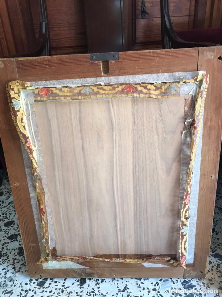 Arte: Óleo del Religioso pegado en una base de madera. Virgen con niño. puede ser del XVIII restaurado. - Foto 5 - 218748517