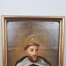 Arte: OLEO SOBRE TABLA DE SANTO DOMINGO DE GUZMAN. FIN. S. XVII PRINC. S. XVIII. MEDIDAS: 33 X 48 CM.. Lote 218790180