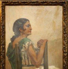 Arte: GITANA - RAFAEL HIDALGO DE CAVIEDES (1935). Lote 218810760