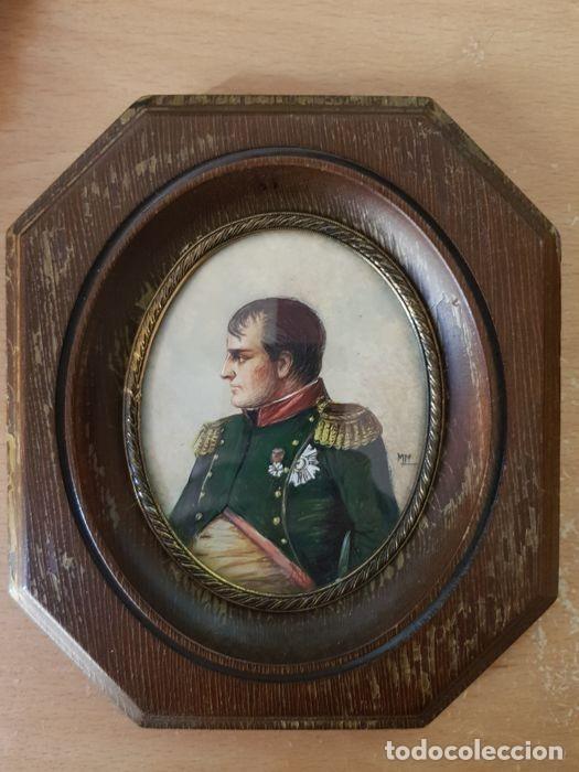 Arte: Pinturas-en-miniatura-de-Napoleón-y-Josephine-Madera-marfil-siglo XIX - Foto 2 - 218824322