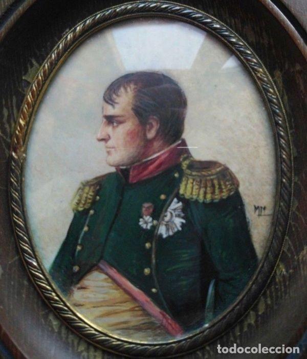 Arte: Pinturas-en-miniatura-de-Napoleón-y-Josephine-Madera-marfil-siglo XIX - Foto 3 - 218824322