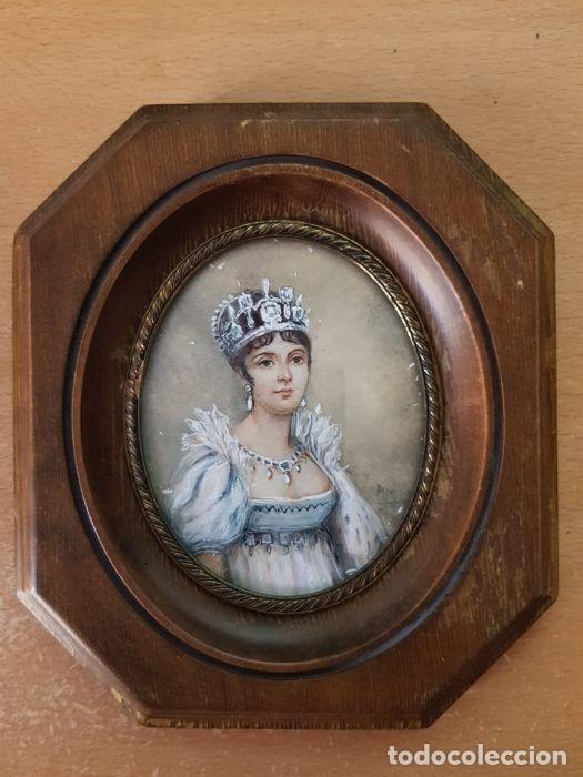 Arte: Pinturas-en-miniatura-de-Napoleón-y-Josephine-Madera-marfil-siglo XIX - Foto 4 - 218824322
