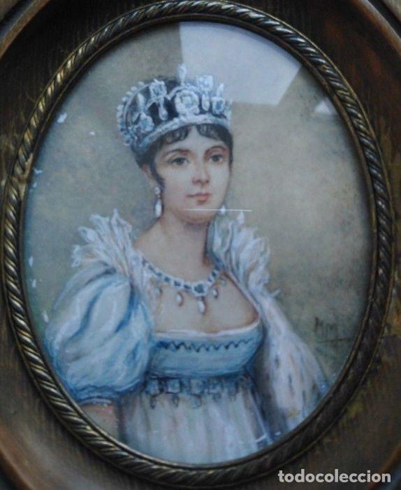 Arte: Pinturas-en-miniatura-de-Napoleón-y-Josephine-Madera-marfil-siglo XIX - Foto 5 - 218824322