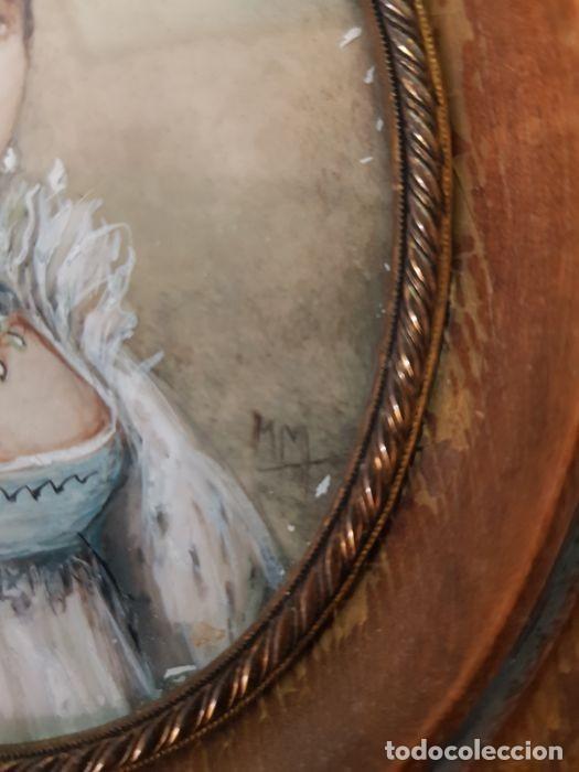 Arte: Pinturas-en-miniatura-de-Napoleón-y-Josephine-Madera-marfil-siglo XIX - Foto 7 - 218824322