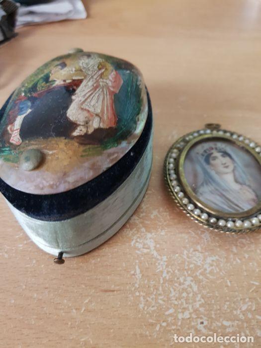 Arte: Pintura única - miniaturas de la esposa de Napoleón - Bronce, nácar - principios siglo XIX - Foto 8 - 218825506