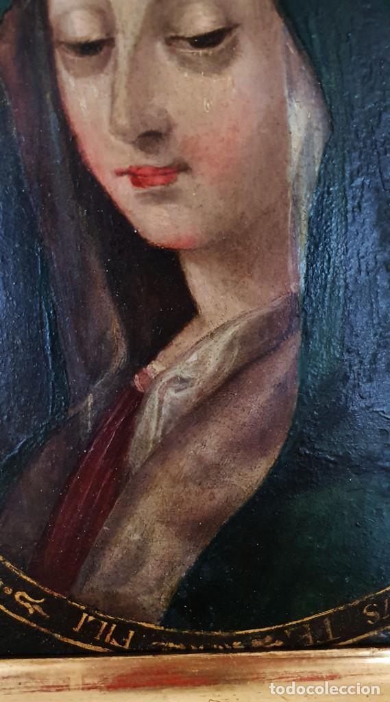 Arte: VIRGEN DOLOROSA - SIGLO XVIII - COBRE - ESCUELA ITALIANA - Foto 4 - 218845436
