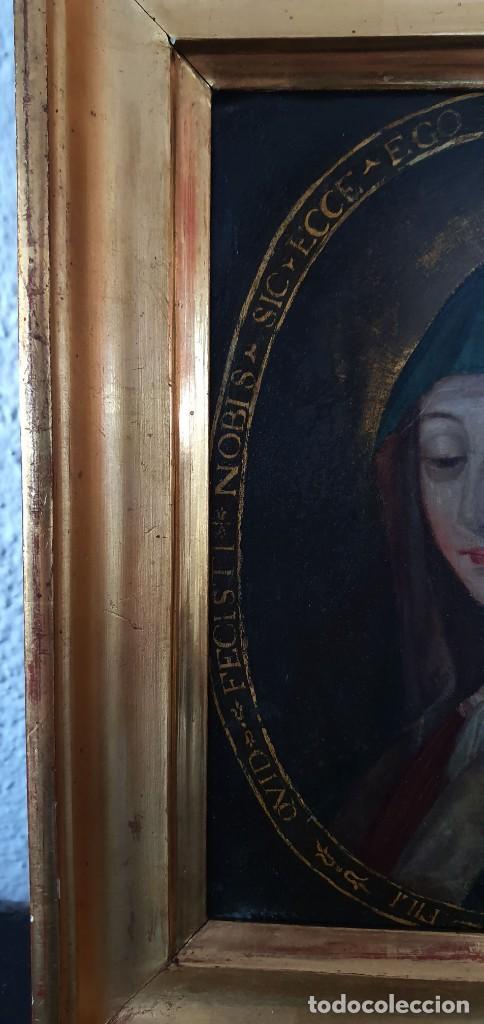 Arte: VIRGEN DOLOROSA - SIGLO XVIII - COBRE - ESCUELA ITALIANA - Foto 8 - 218845436