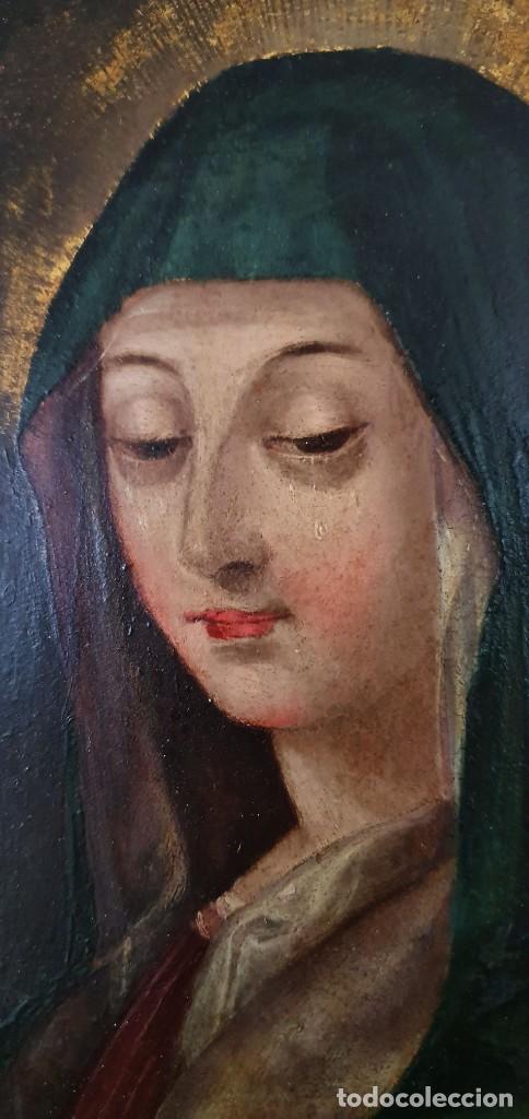 Arte: VIRGEN DOLOROSA - SIGLO XVIII - COBRE - ESCUELA ITALIANA - Foto 10 - 218845436