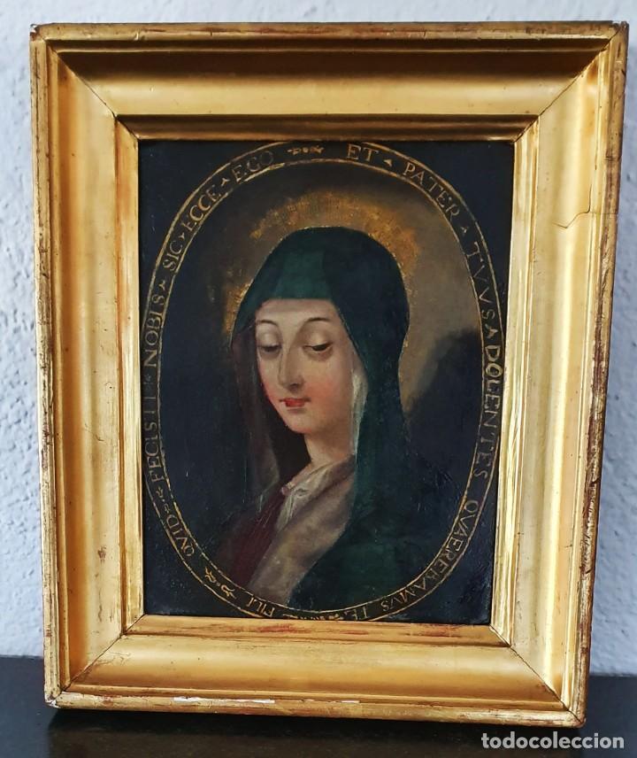 Arte: VIRGEN DOLOROSA - SIGLO XVIII - COBRE - ESCUELA ITALIANA - Foto 14 - 218845436