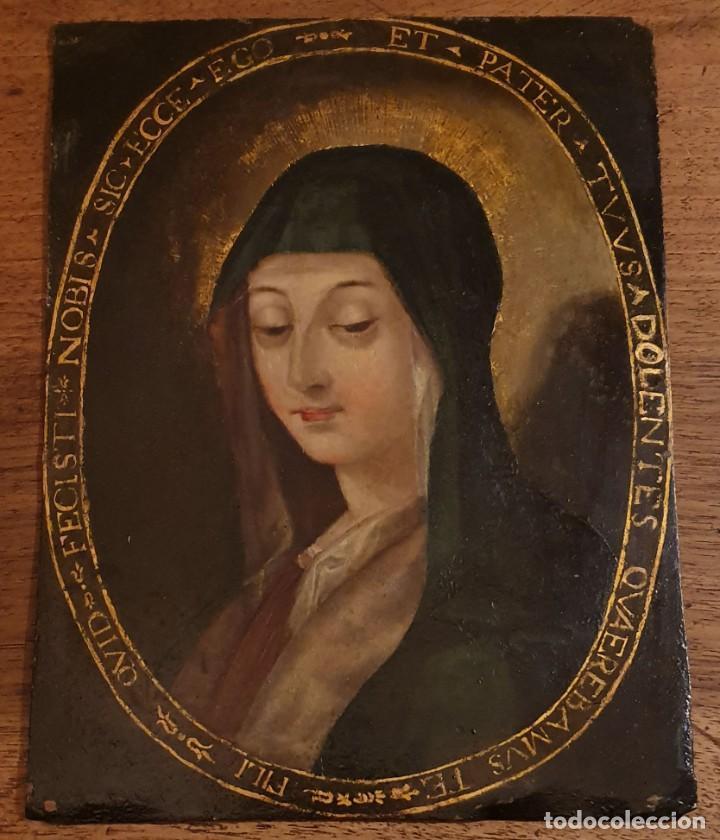 Arte: VIRGEN DOLOROSA - SIGLO XVIII - COBRE - ESCUELA ITALIANA - Foto 2 - 218845436