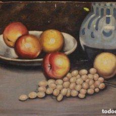 "Arte: M.TEBAR, ÓLEO SOBRE TABLA, ""BODEGÓN"" 58 X 40 CM.. Lote 218885672"