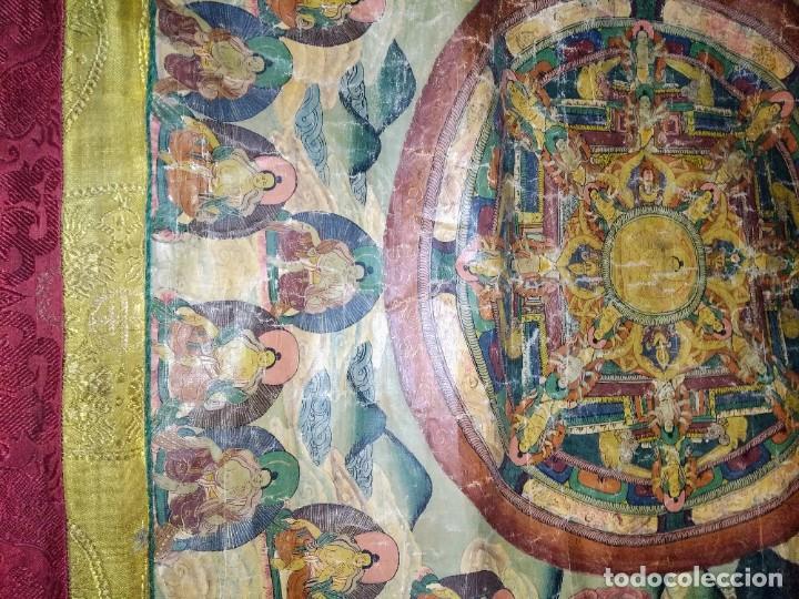 Arte: Óleo sobre lienzo, cuadro antiguo de Tíbet del siglo 18-19 - Foto 3 - 218887048