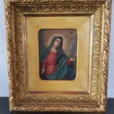 Arte: VIRGEN DOLOROSA - SIGLO XVIII - COBRE - 40 X 36 CM - GRAN MARCO.. Lote 218894163