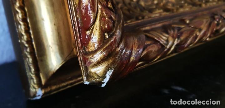 Arte: VIRGEN DOLOROSA - SIGLO XVIII - COBRE - 40 X 36 CM - GRAN MARCO. - Foto 13 - 218894163