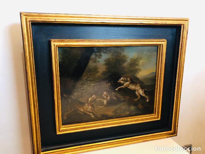 Arte: Círculo de Paul de Vos, caza del jabalí, siglo XVII - Foto 4 - 218901840
