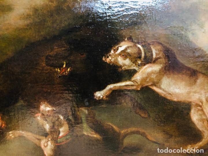 Arte: Círculo de Paul de Vos, caza del jabalí, siglo XVII - Foto 8 - 218901840