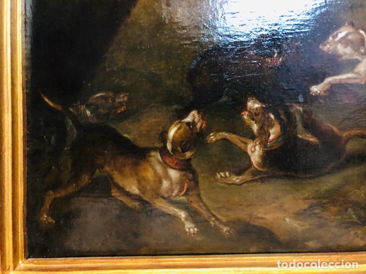 Arte: Círculo de Paul de Vos, caza del jabalí, siglo XVII - Foto 9 - 218901840