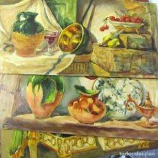 Arte: 9 TABLAS CON PINTURA DE BODEGONES, ACUARELA-ÓLEO TÉCNICA MIXTA, SALVADOR SALVÁ ROMÉU, AÑOS 50-60. Lote 218911066