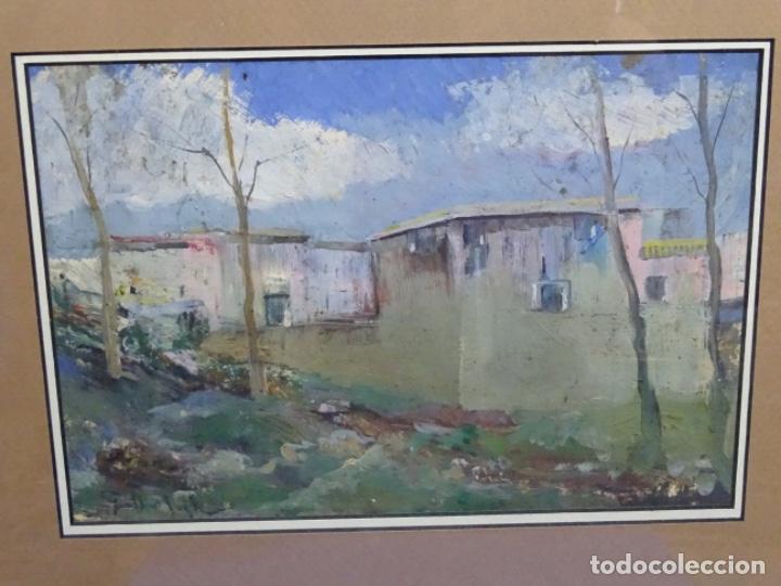 ÓLEO CON FIRMA ILEGIBLE DE BUEN TRAZO.GRAN COLORIDO. (Arte - Pintura - Pintura al Óleo Contemporánea )
