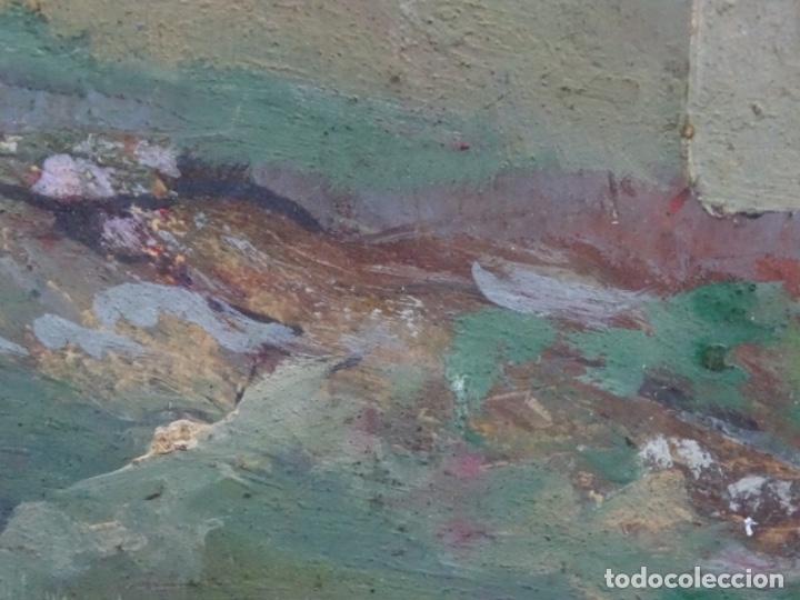 Arte: ÓLEO CON FIRMA ILEGIBLE DE BUEN TRAZO.GRAN COLORIDO. - Foto 7 - 218931693