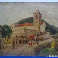 Arte: ÓLEO SOBRE CARTÓN DE F. PARIS CASAS, PINTOR DE PIERA FINALES DEL S.XIX.GRAN CALIDAD.. Lote 218932235