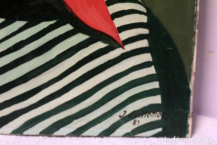 Arte: JORGE GUILLEMOT. GRUPO PONT DE FUSTA . RETRATO, OLEO SOBRE LIENZO. 51X41CM - Foto 4 - 218967775