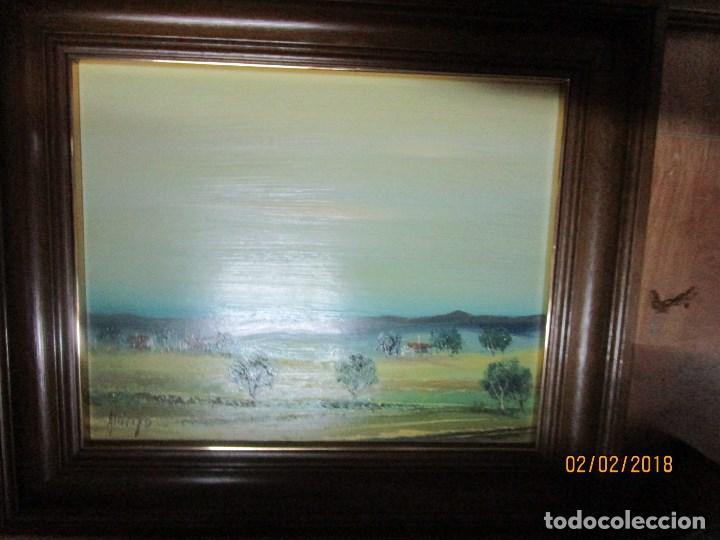 Arte: antigua pintura oleo finales siglo XX FIRMADO PROCEDE DE ALICANTE - Foto 2 - 219007675