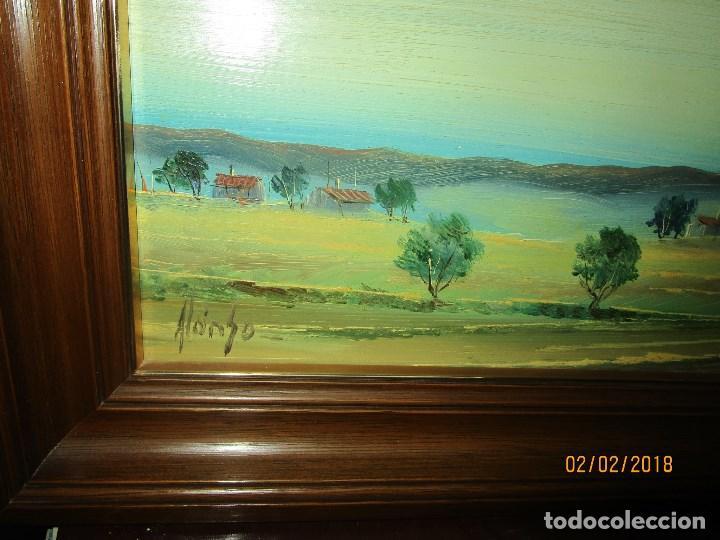 Arte: antigua pintura oleo finales siglo XX FIRMADO PROCEDE DE ALICANTE - Foto 3 - 219007675