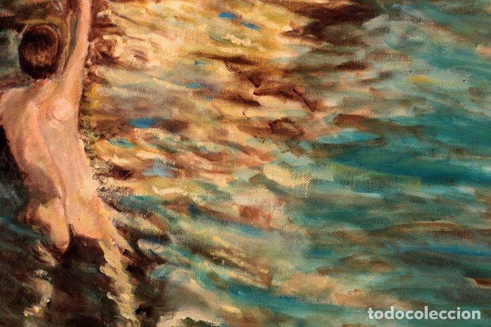 Arte: Joaquin Sorolla (1863-1923) después de - El bote blanco. Firmado. Enmarcado 84×71cm - Foto 5 - 219065043
