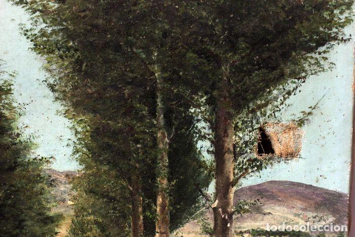 Arte: Autoría desconocida, escuela española finales s.XIX-XX - Camino con arboles. 44×34 - Foto 4 - 219068321