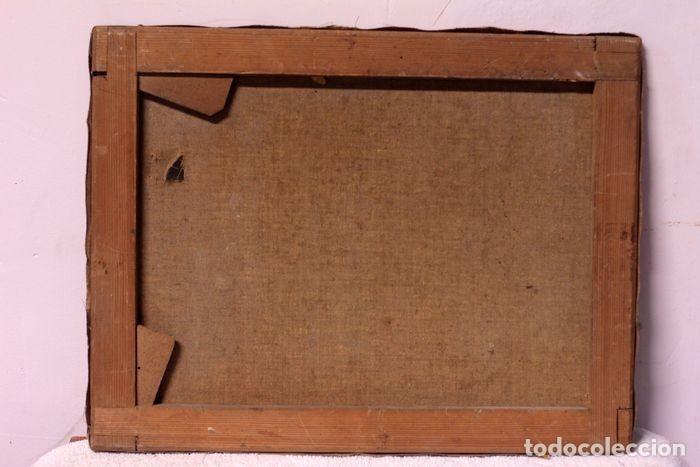 Arte: Autoría desconocida, escuela española finales s.XIX-XX - Camino con arboles. 44×34 - Foto 5 - 219068321