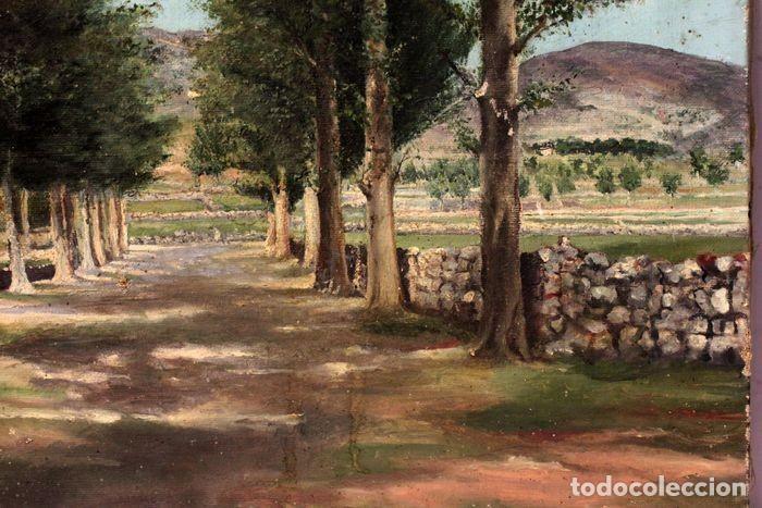 Arte: Autoría desconocida, escuela española finales s.XIX-XX - Camino con arboles. 44×34 - Foto 6 - 219068321