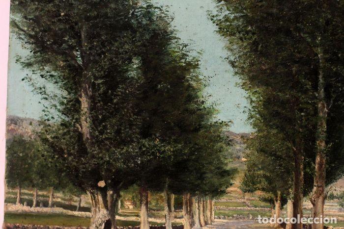 Arte: Autoría desconocida, escuela española finales s.XIX-XX - Camino con arboles. 44×34 - Foto 7 - 219068321