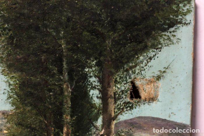 Arte: Autoría desconocida, escuela española finales s.XIX-XX - Camino con arboles. 44×34 - Foto 8 - 219068321