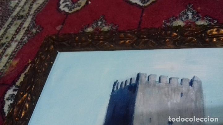 Arte: CASTELLAR DE LA FRONTERA. ACRILICO SOBRE LIENZO 63x20. MARCO DE ÉPOCA SIGLO XIX INCLUIDO. - Foto 8 - 219136335