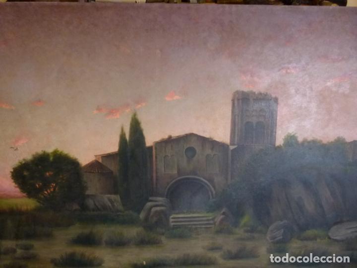 Arte: GRAN OLEO DE MODESTO URGELL COPIA DE SITJAR - Foto 4 - 219148580
