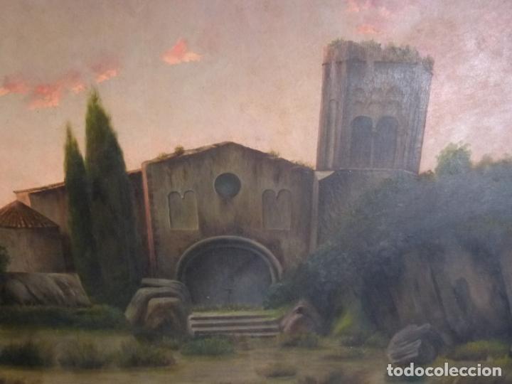 Arte: GRAN OLEO DE MODESTO URGELL COPIA DE SITJAR - Foto 5 - 219148580