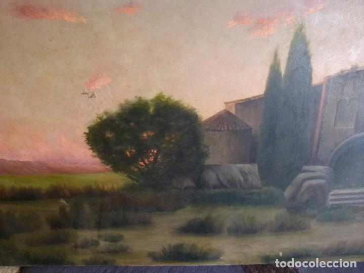 Arte: GRAN OLEO DE MODESTO URGELL COPIA DE SITJAR - Foto 6 - 219148580