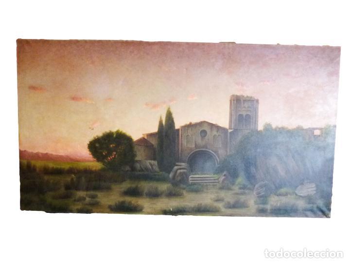 GRAN OLEO DE MODESTO URGELL COPIA DE SITJAR (Arte - Pintura - Pintura al Óleo Moderna sin fecha definida)