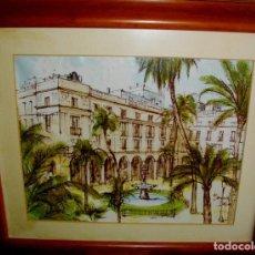 Arte: BERNARD DUFOUR 1922 - 2016 FRANCIA ( OBRA SERIADA ) LIENZO ENTABLILLADO 66X57 MARCO Y CRISTAL. Lote 219184005
