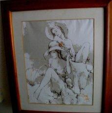 Arte: BERNARD DUFOUR 1922 - 2016 FRANCIA ( OBRA SERIADA ) LIENZO ENTABLILLADO 66X57 MARCO Y CRISTAL. Lote 219184040