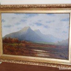 Arte: JOAN O'NEILLE I ROSSINYOL - (1828-1907), PAISAJE MALLORQUÍN - 1,04 X 72 CM.. Lote 219198813