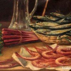 Arte: FERNANDO MARTÍNEZ CHECA (1858-1933) - BODEGÓN ENMARCADO 78X68CM. Lote 219211687