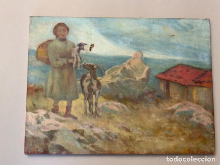 PINTURA AL ÓLEO PASTORA (PPIOS S.XX) (Arte - Pintura - Pintura al Óleo Contemporánea )