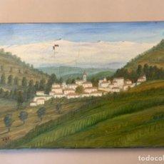 Arte: PINTURA AL ÓLEO BUBIÓN, LA ALPUJARRA. Lote 219215821
