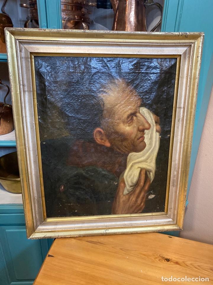 CUADRO PERSONAJE 54X 64 (Arte - Pintura - Pintura al Óleo Antigua siglo XVIII)